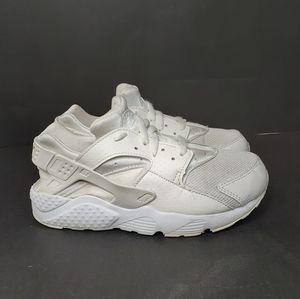 Nike Air Hiarache Run Triple White Sneakers 1.5